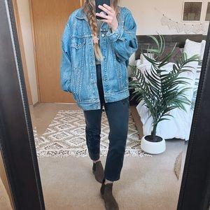 Vintage Oversized Embellished Denim Jacket